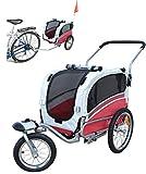 Polironeshop Argo - Remolque y carrito de bicicleta para el transporte de perros rojo Talla:Small
