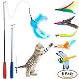Caña de juguete para gatos 8-en-1 Wineecy