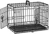 Jaula-transportín plegable AmazonBasics - 56 cm (más tamaños disponibles)