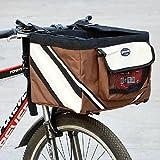 Cesta de bicicleta Olayer con bolsillos, para perro de pequeño tamaño, se ajusta en el manillar