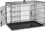 Jaula para perros - Metálica y plegable - AmazonBasics