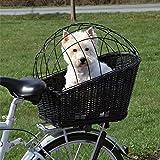 Cesta de mimbre trasera para bicicleta para mascotas