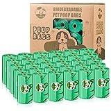 Cycluck Biodegradables 450 Caca Perro Bolsas Extra Gruesa Prueba de Fugas Bolsas Hecho de la Mezcla de almidón de maíz con DIN CERTCO Certificación (450 Bolsas, Verde)