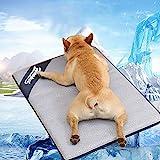 Colchón de Refrigeración para Mascotas Gatos y Perros de Verano Alfombrilla Refrigeración Manta Refrigerante Colchoneta Impermeable Mascotas Camas Refrescante Cojines (L)