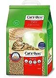 Cat's Best | Arena para Gatos Aglomerante EcoPlus 20L (8,6 kg). Tierra para Gatos de Hasta 7 Semanas de Uso. Arena Biodegradable de Fibra Vegetal Ecológica.