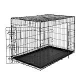 lionto by dibea Jaula transporte plegable para perros caja de transporte (XXL) 106x71x77 cm