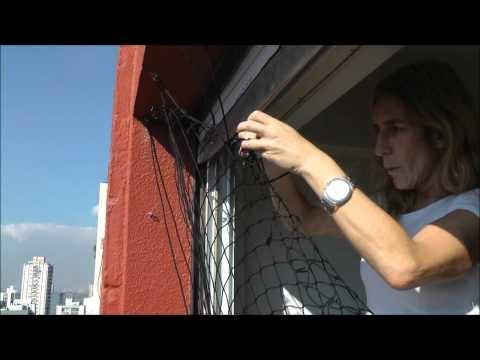Una ama de casa nos enseñó cómo se instala una red de seguridad ¡Qué Fácil!