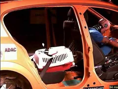 Crash test Trasportín suelto: El transporte seguro de mascotas en el vehículo