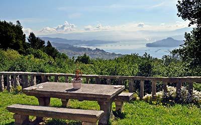 Vistas de A Bouza - Casa rural que admite perros en Pontevedra - Samieira (Galicia)