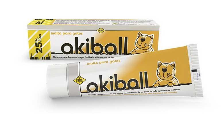 Jalea de malta para gatos con acción laxante - Akiball