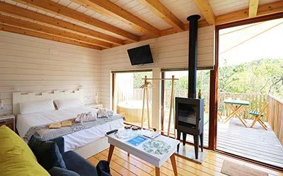Aloia Nature Alojamiento Forestal - Apartamentos que admiten mascotas en Tui (Pontevedra)