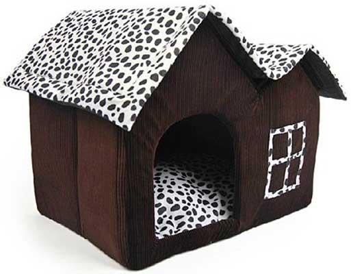 Casa interior para perros (fabricada en tela) - Amyjazz
