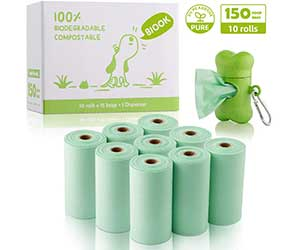 Bolsas para recoger excrementos de perro biodegradables - BIOOK