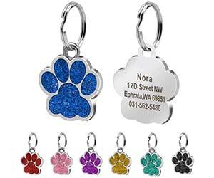 Chapa identificativa para perros y gatos con forma de patita - Beirui