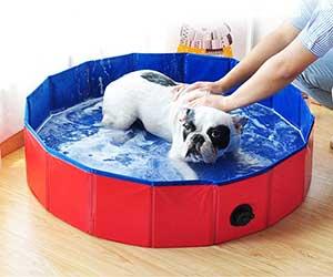 Piscina plegable para perros (tamaño mini, ideal para usar como bañera) - Decdeal