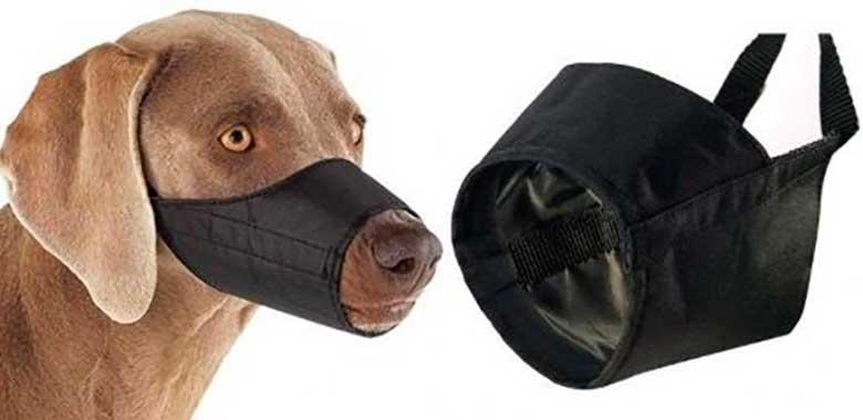 Bozal de tubo para perros - Fabricado en tela o nylon