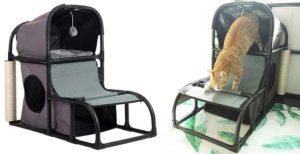 Casa para gatos multifuncional y con dos pisos - CO-Z