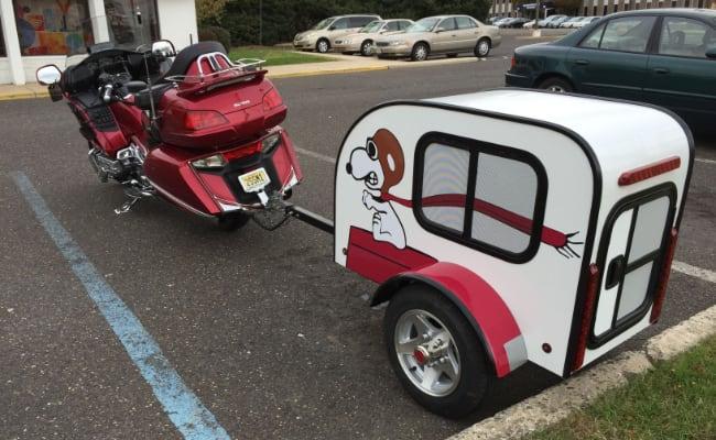 Carro para llevar perros en moto