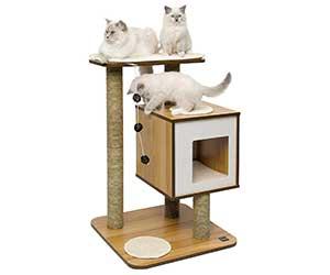 Mueble para gatos con casita y postes rascadores - Catit Vesper Base