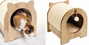 Casa para gatos con zona de rascado en el exterior - Catit Vesper Minou