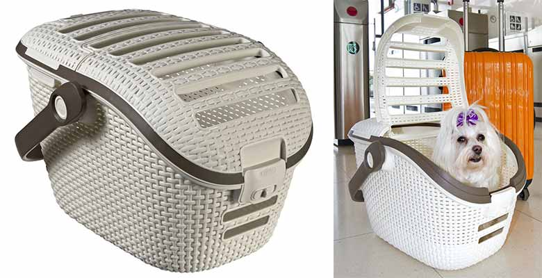 Transportín tipo cesta para perros y gatos - Curver Plastic Decor
