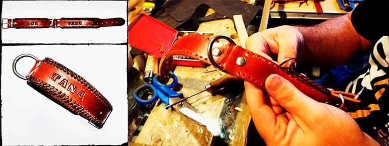 Collar artesanal para perros, hecho a mano y personalizado - Demetrio Artesanía Cosido Español