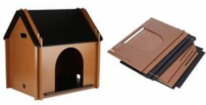 Casa de madera para gatos para uso en interiores - EBTOOLS