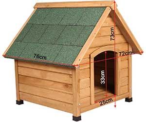 Caseta de madera barata para perros pequeños - EUGAD