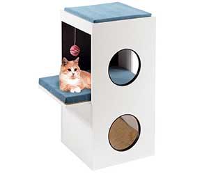 Mueble para gatos con diseño italiano - con cojines y rascador - Feplast