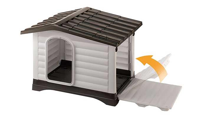 Caseta de plástico para perros - con apertura lateral | Ferplast Dogvilla