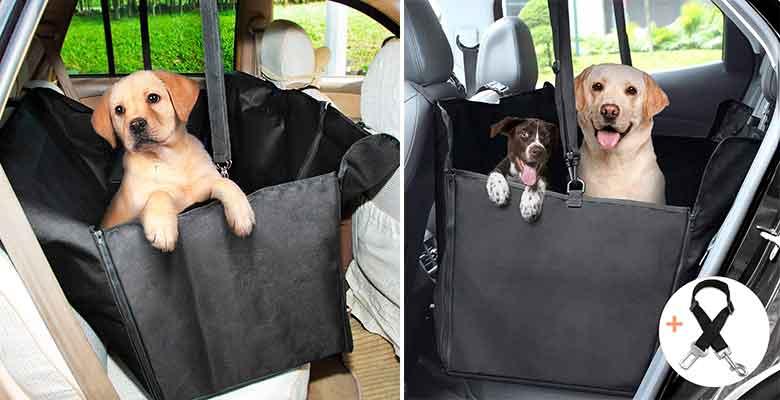 Híbrido cubierta de asiento y hamaca para llevar perros en el coche - GHB