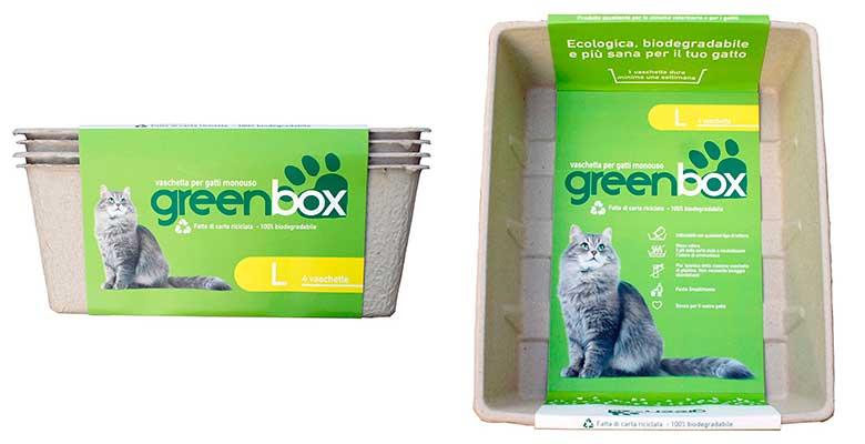 Arenero desechable para gatos - Greenbox