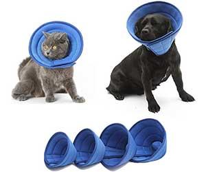 Collar isabelino de malla transpirable para gatos y perros - PJDDP