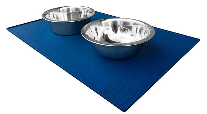 Alfombrilla de silicona premium para comederos y bebederos de perros y gatos - Happilax