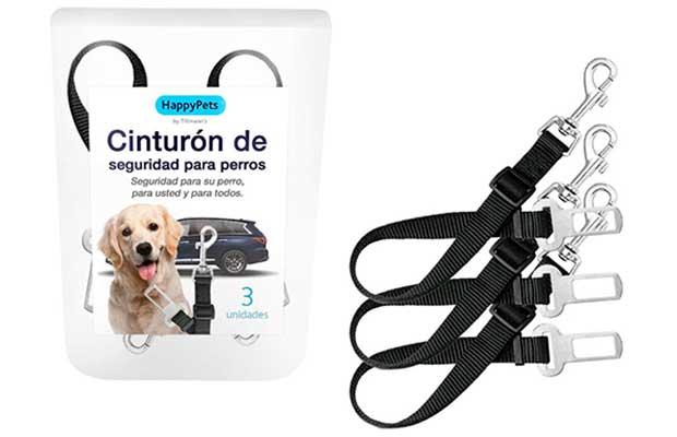 Pack de 3 cinturones de seguridad para perros | HappyPets