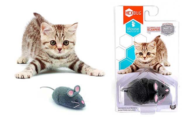 Ratón robótico de juguete para gatos - Hexbug Nano