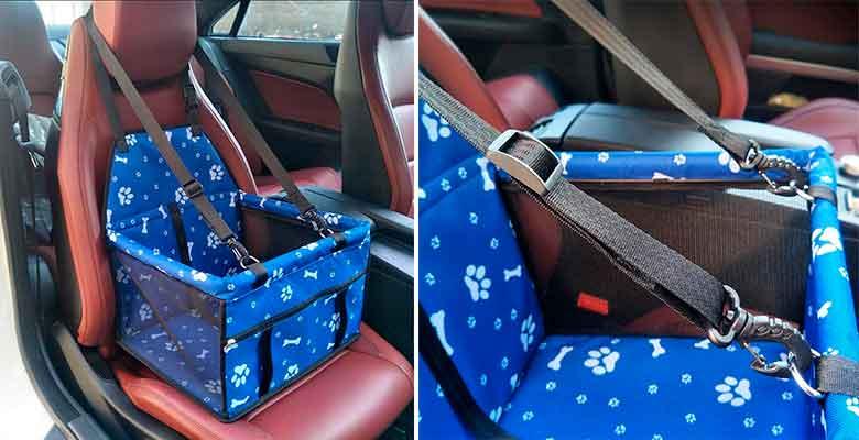 Transportín para llevar perros y gatos en el asiento del coche - HomeYoo