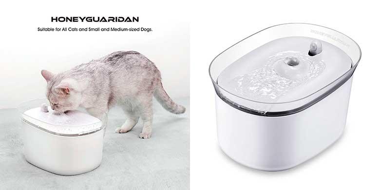 Fuente automática inteligente para gatos y perros - HoneyGuaridan W25