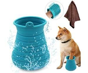 2-en-1: aparato para limpiar patas de perro y cepillo de baño - Idepet