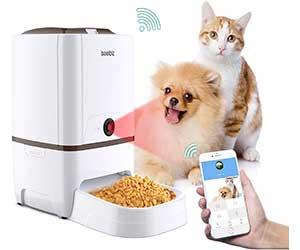 Comedero automático inteligente con cámara y WiFi para perros y gatos - Iseebiz
