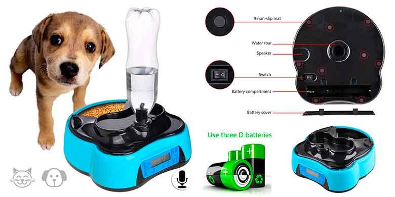 Comedero-bebedero automático para gatos y perros pequeños - Iseebiz