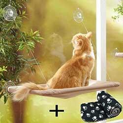 Estante de ventana para gatos tipo hamaca - JZK