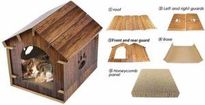 Casa para gatos fabricada en madera - Jannyshop