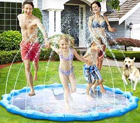 """Alfombrilla """"splash pad"""" para jugar y refrescar a los perros en verano - Fostoy"""