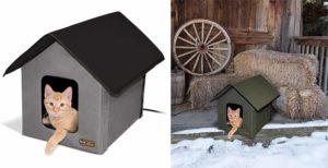 Casa para gatos con calefacción para exterior e interior - K&H Kitty House