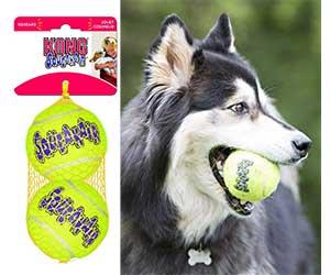 Pelotas tipo tenis y con sonido para perros - KONG Squeakair Balls