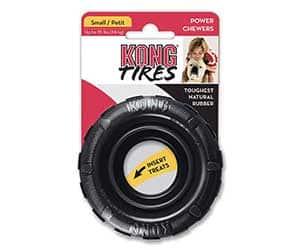 Mordedor para perros extrafuerte y con forma de rueda - KONG Tires Traxx