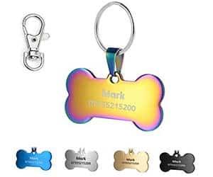Chapas identificativas para perros y gatos baratas y con varios colores y diseños - KSZ