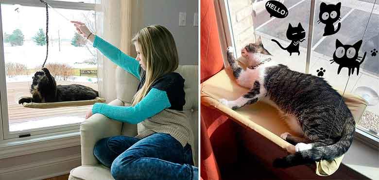 Cama de ventana para gatos - Kadundi