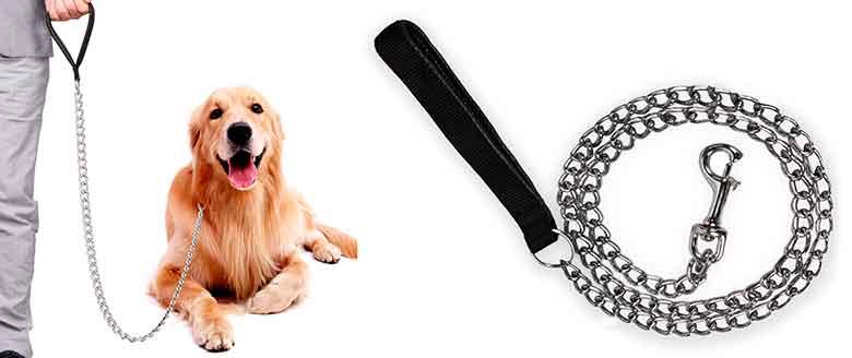 Correa metálica para perros - tipo cadena - Kaka Mall